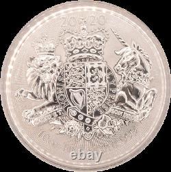 10oz Silver Coin 2020 Royal Shield Of Arms Fine. 999 Silver BU Royal Mint RARE