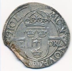 1575 Sweden Swedish 1 Ore Johannes III Rare Silver Coin