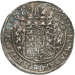 1624 GERMANY SAXONY JOHANN GEORG SILVER THALER, DRESDEN COIN, UNC RARE TALER old