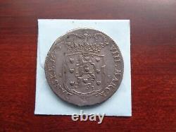 1675 Denmark 8 Mark 2 Krone large silver coin Rare