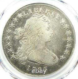 1795 Draped Bust Small Eagle Silver Dollar $1 PCGS VF Detail Rare Coin
