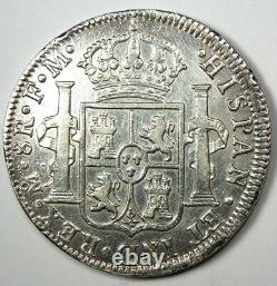 1795 Mexico Charles IV 8 Reales Coin (8R) AU Details Rare Coin
