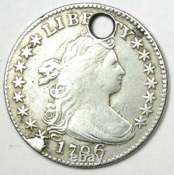 1796 Draped Bust Dime 10C Fine Details (Holed) Rare Early Date Coin