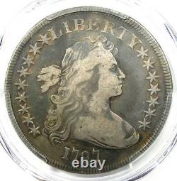 1797 Draped Bust Small Eagle Silver Dollar $1 9x7 PCGS Fine Detail Rare Coin