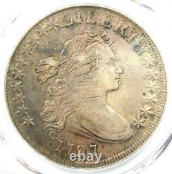 1797 Draped Bust Small Eagle Silver Dollar $1 PCGS XF Detail (EF) Rare Coin