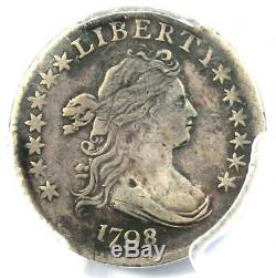 1798/7 Draped Bust Dime 10C 16 Stars PCGS VF Details Rare Overdate Coin