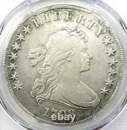 1798 Draped Bust Silver Dollar $1 Certified PCGS VF Details Rare Coin
