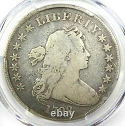 1798 Draped Bust Silver Dollar $1 Certified PCGS VG Details Rare Coin