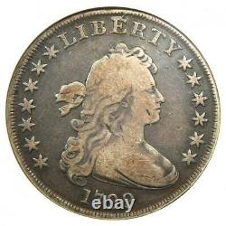 1799 Draped Bust Silver Dollar $1 Coin Certified ANACS Fine Detail Rare
