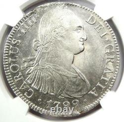 1799-MO Mexico Charles IV 8 Reales Coin (8R) Certified NGC AU58 Rare
