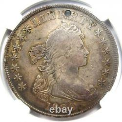 1800 Draped Bust Silver Dollar $1. Certified NGC VF Detail (Holed) Rare Coin