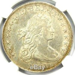 1801 Draped Bust Silver Dollar $1 Certified NGC AU Details Rare Coin in AU