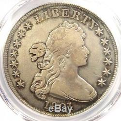 1801 Draped Bust Silver Dollar $1 Certified PCGS VF Details Rare Coin