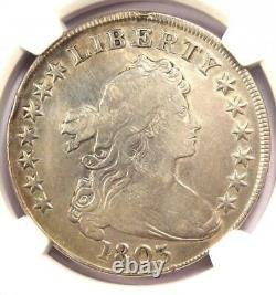 1803 Draped Bust Silver Dollar $1 Certified NGC VF Details Rare Coin