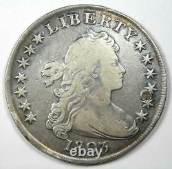 1803 Draped Bust Silver Dollar $1 Coin Fine Details (Plugged) Rare Date