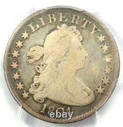 1804 Draped Bust Quarter 25C PCGS VG Details Rare Key Date Certified Coin
