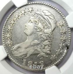 1812 Bust Half Dollar 50C Certified NGC VF Details Rare Date Coin