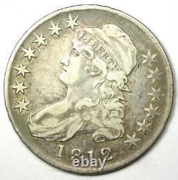 1812 Capped Bust Half Dollar 50C Sharp VF Details Rare Coin