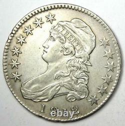 1812 Capped Bust Half Dollar 50C XF / AU Details Rare Date Coin