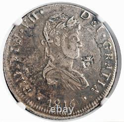 1816-CaRP, Mexico (War of Independence). Silver 8 Reales Coin. Rare! NGC XF-45