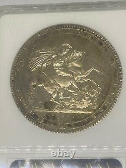 1818 Great Britain LIX George III Silver Crown Coin MS 62 -RARE! GEM LIKE