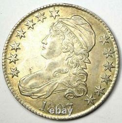 1827 Capped Bust Half Dollar 50C Choice AU Good Luster Rare Coin