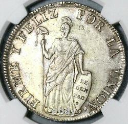 1833 NGC AU 53 Peru 8 Reales Cuzco-BoAr Rare Silver Coin (20040702D)