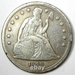 1846-O Seated Liberty Silver Dollar $1 VF Details Rare New Orleans Mint Coin