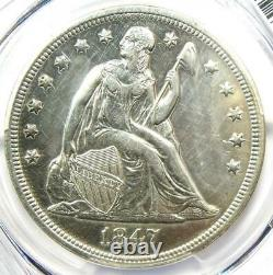 1847 Seated Liberty Silver Dollar $1 PCGS XF Details (EF) Rare Date Coin