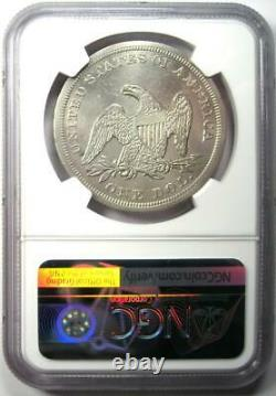 1849 Seated Liberty Silver Dollar $1 Certified NGC XF Detail (EF) Rare Coin