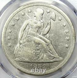 1859-O Seated Liberty Silver Dollar $1 Certified PCGS XF Detail (EF) Rare Coin