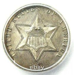 1862 PROOF Silver 3 Cent Coin 3CS ICG PR60 Details (PF60) Rare Proof