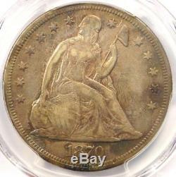 1870-CC Seated Liberty Dollar $1 PCGS VF Details Rare Carson City Coin