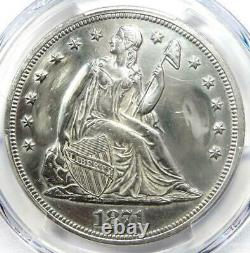 1871 Seated Liberty Silver Dollar $1 PCGS AU Details Rare Early Coin