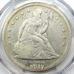 1872 Seated Liberty Silver Dollar $1 Certified PCGS VF Details Rare Coin