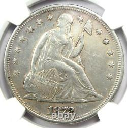 1872 Seated Liberty Silver Dollar $1 Coin Certified NGC AU Detail Rare Coin