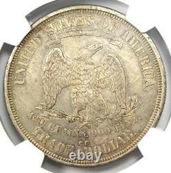 1874-CC Trade Silver Dollar T$1 NGC AU Details Rare Carson City Coin