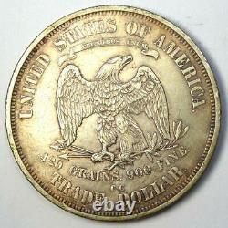 1875-CC Trade Silver Dollar T$1 Coin XF Details Rare Carson City Coin