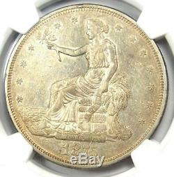 1875-CC Trade Silver Dollar T$1 NGC AU Details Rare Carson City Coin