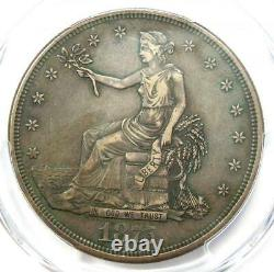 1875-CC Trade Silver Dollar T$1 PCGS VF Details Rare Carson City Coin