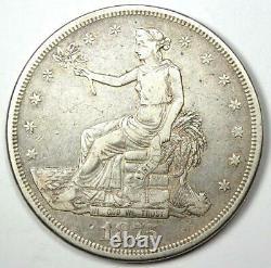 1875-CC Trade Silver Dollar T$1 VF Details Rare Carson City Coin