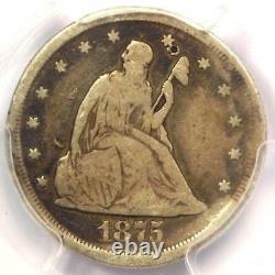 1875-CC Twenty Cent Piece 20C PCGS VG Details Rare Carson City Coin