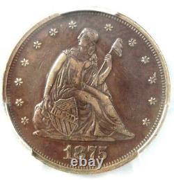 1875-P Twenty Cent Coin 20C PCGS XF Details (EF) Rare Date 1875 Coin