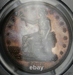 1875 Silver Trade Dollar PCGS MS-64 Gem BU Toned Coin Very Rare DGH