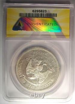 1876-CC Trade Silver Dollar T$1 ANACS AU55 Details Rare Carson City Coin