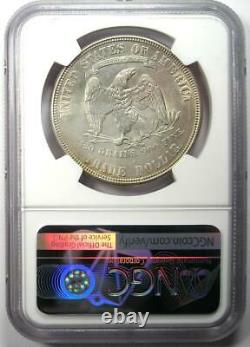 1876-S Trade Silver Dollar T$1 Certified NGC AU Details Rare Coin Near MS