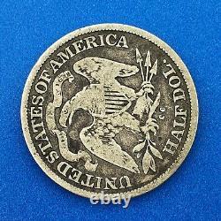 1877 CC Silver Seated Liberty Half Dollar 50c Better Rare Carson City Mint Coin