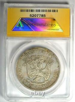 1877-S Trade Silver Dollar T$1 Certified ANACS AU50 Details Rare Coin