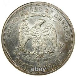 1877-S Trade Silver Dollar T$1 Coin ANACS AU Detail Rare Certified Coin