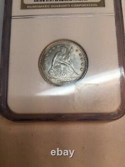 1877-p Seated Liberty Quarter 25C Coin Certified ngc MS61 (BU UNC) Rare
